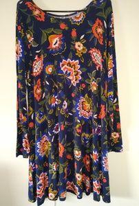 Old Navy blue floral dress